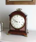 Mahogany English bracket clock by Grimalde London